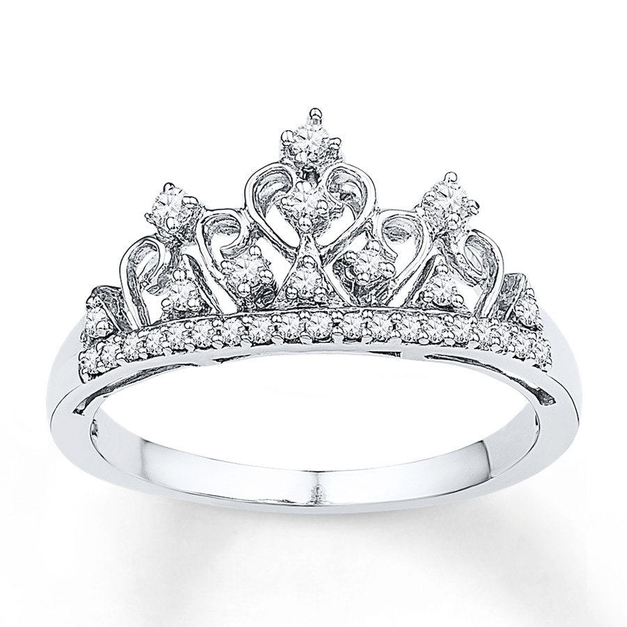 KayOutlet Crown Ring 15 ct tw Diamonds Sterling Silver