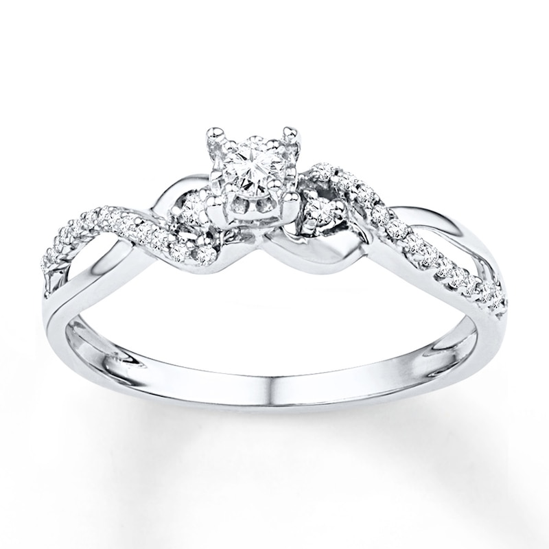 Diamond Promise Ring 1 4 Ct Tw Round