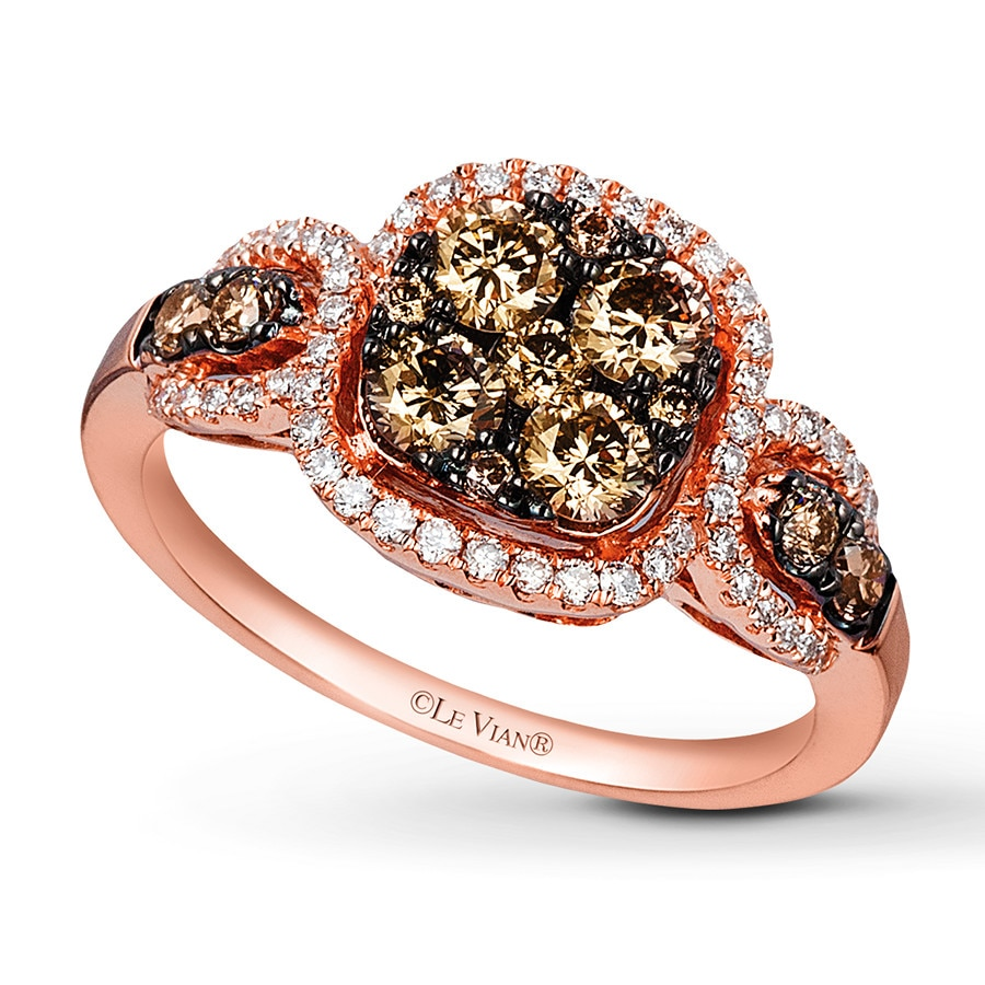 Le Vian Chocolate Diamonds 1 Ct Tw Ring 14k Strawberry