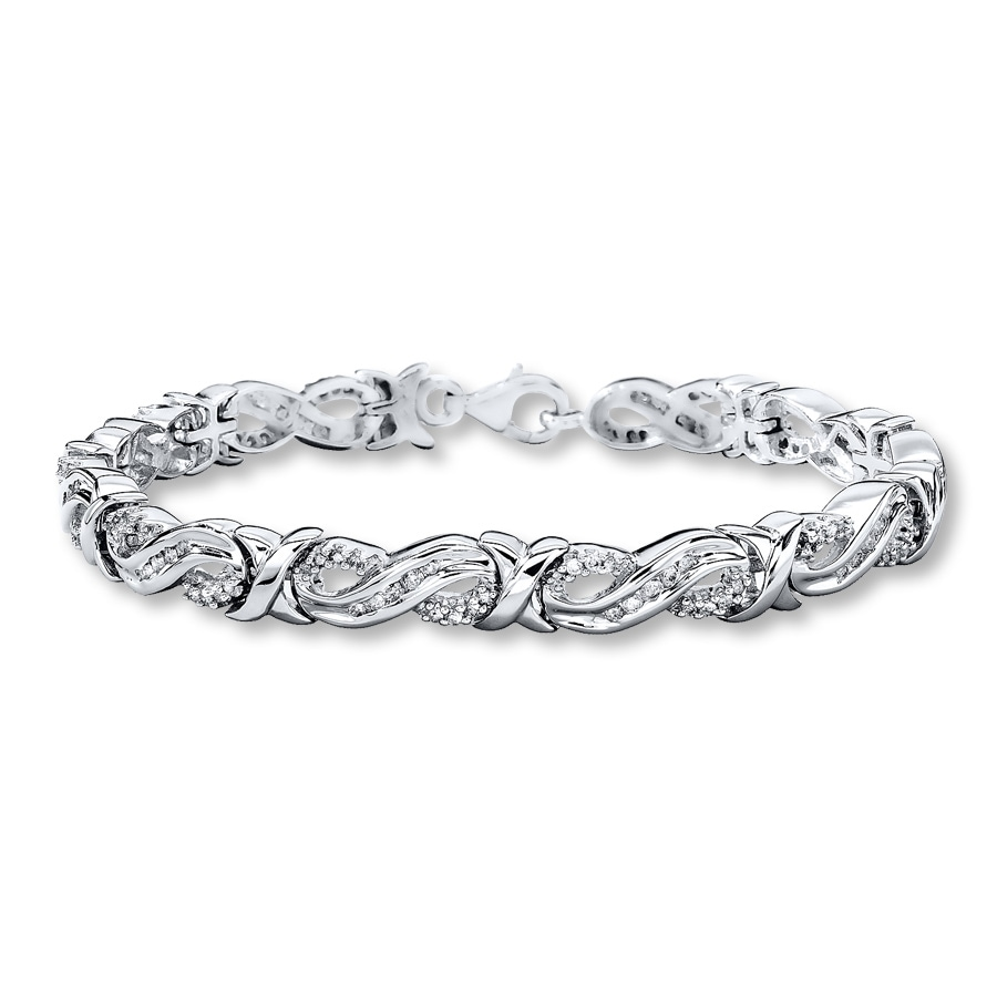 Large View Diamond Infinity Bracelet