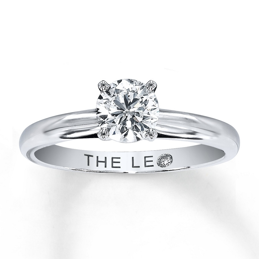 KayOutlet Leo Solitaire Ring 3 4 Carat Diamond 14K White Gold