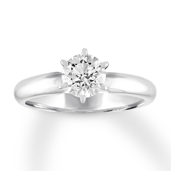 Certified Diamond Solitaire 1 Carat Round-cut 14K White Gold