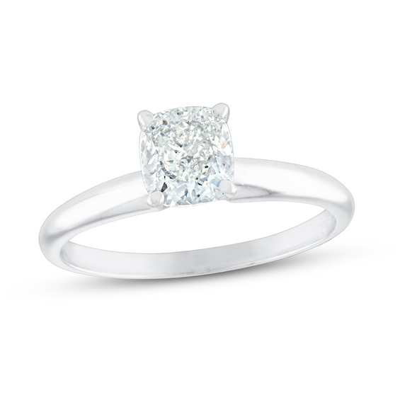 Cushion-cut Diamond Solitaire Engagement Ring 1 ct 14K Gold