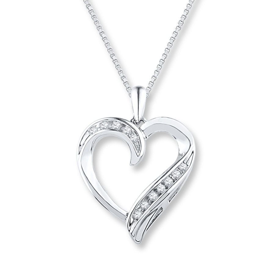 Silver diamond heart necklace sterling silver diamonds rdqiop silver diamond heart necklace sterling silver diamonds aloadofball Gallery