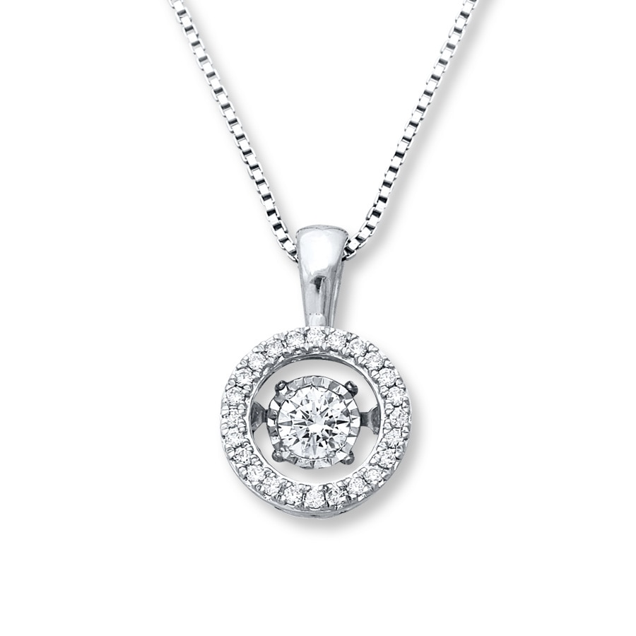 1710b7b9f Diamonds in Rhythm 1/4 ct tw Necklace 10K White Gold - 172953907 ...