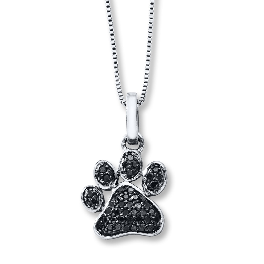 pendant puppy print animal paw plated jewelry gold oa rose dog necklace bling