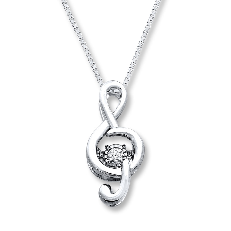 amazon musical jewelry pendant necklace dp com note sterling silver piano