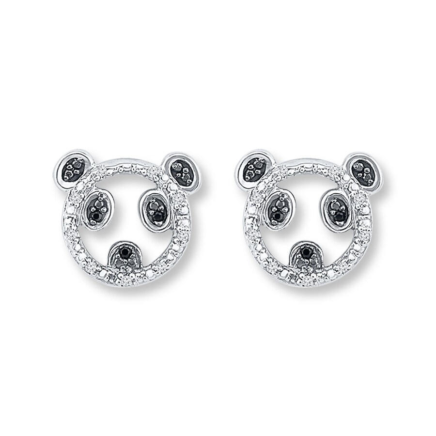 Large View Panda Earrings