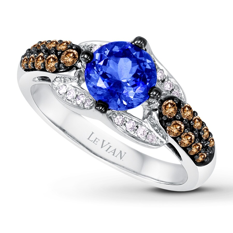 diamond ct tanzanite in ring on huge deal gold vian bypass zales shop t honey le and cut trillion w blueberry