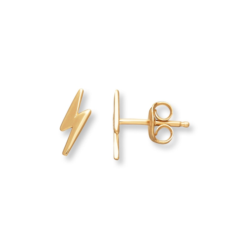 Young Teen Lightning Bolt Earrings 14k Yellow Gold Childrens Earrings Gender Earrings Kay Outlet