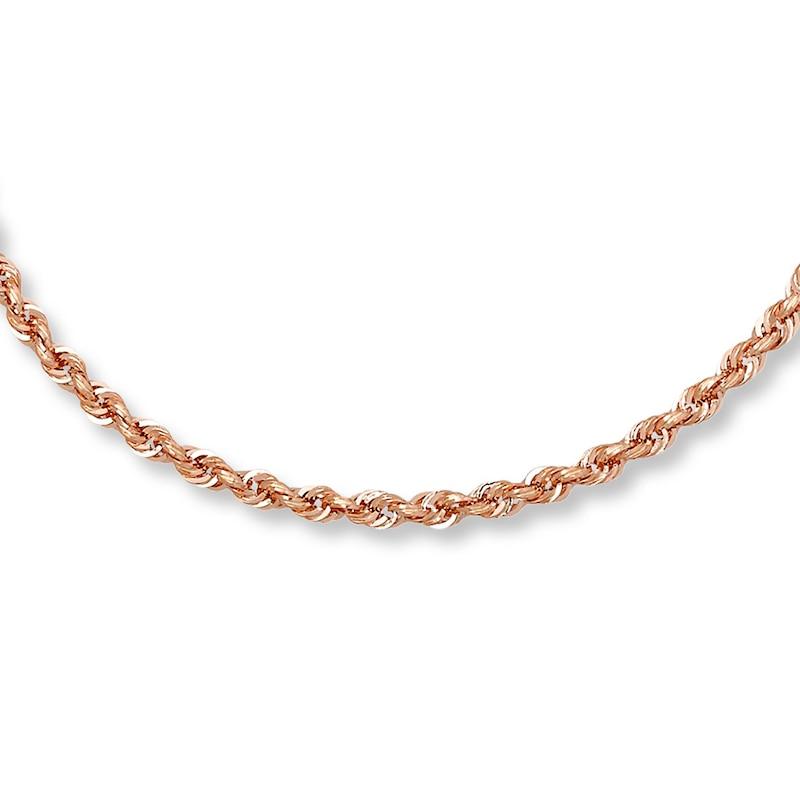 Rope Necklace 14k Rose Gold 30 Length Kay Outlet