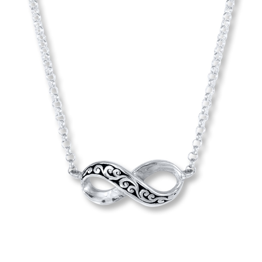 com dp jewelry cubic faith infinity sterling sisters amazon silver sign aaa zirconia necklace