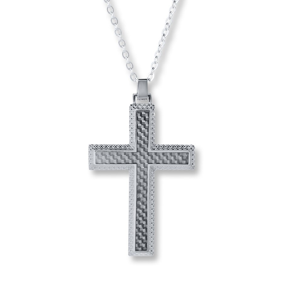 kayoutlet s cross necklace stainless steel 22 quot length