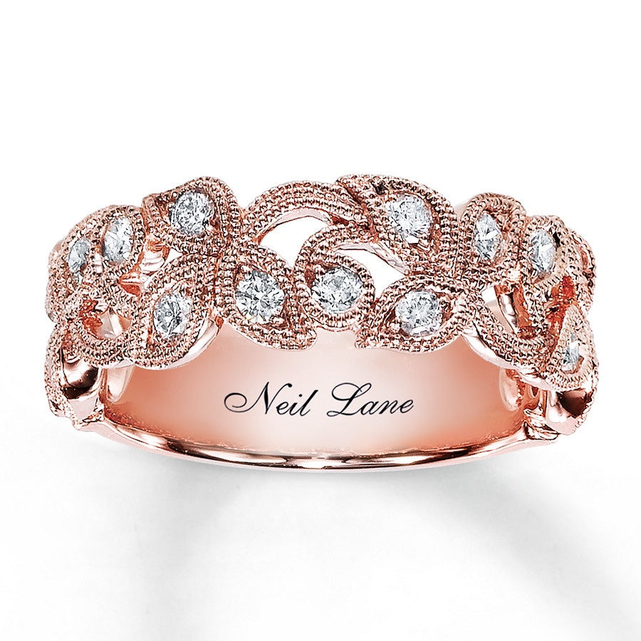 Neil Lane Designs Ring 1 2 Ct Tw Diamonds 14k Rose Gold
