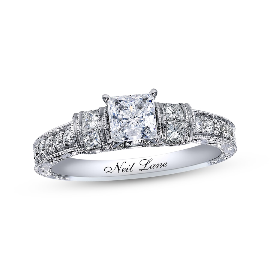 KayOutlet Neil Lane Bridal Ring 1 1 8 ct tw Diamonds 14K White Gold