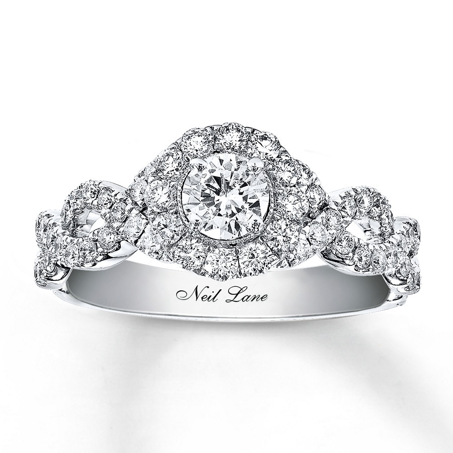 Neil Lane Engagement Ring 1 Ct Tw Diamonds 14k White Gold