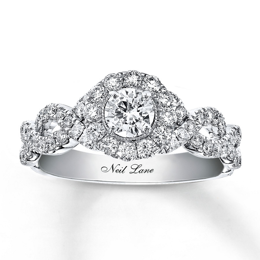 kayoutlet - neil lane engagement ring 1 ct tw diamonds 14k white gold