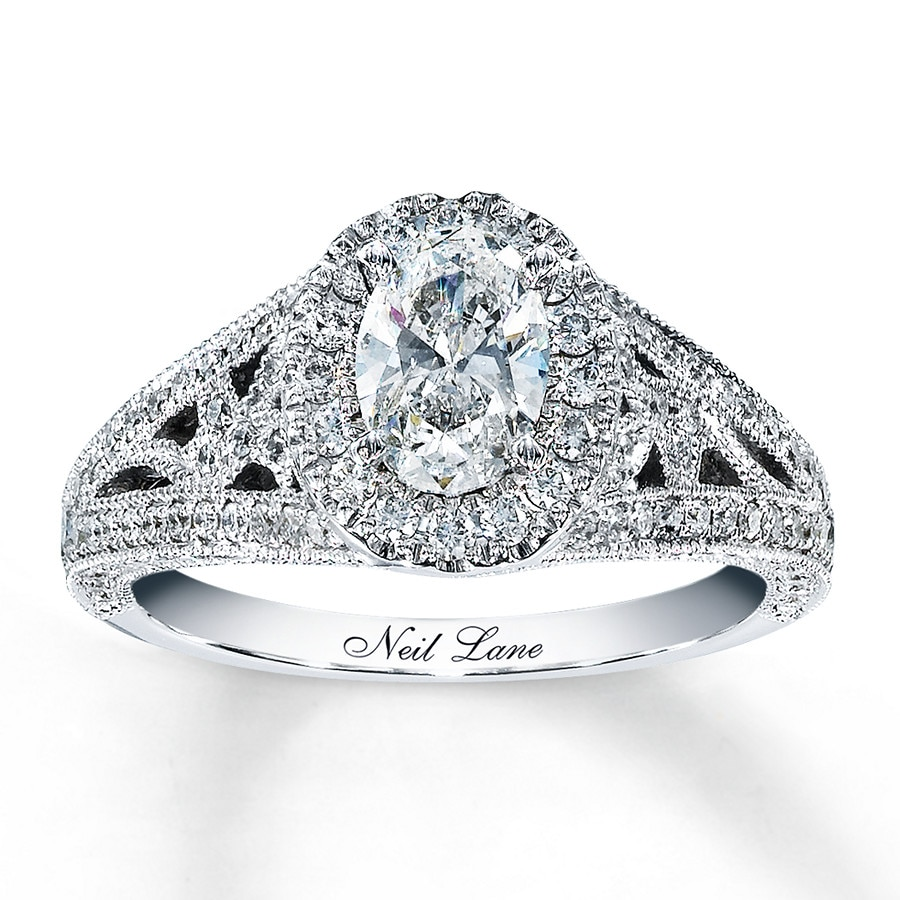 Neil Lane Engagement Ring 1 1 2 Ct Tw Diamonds 14k White