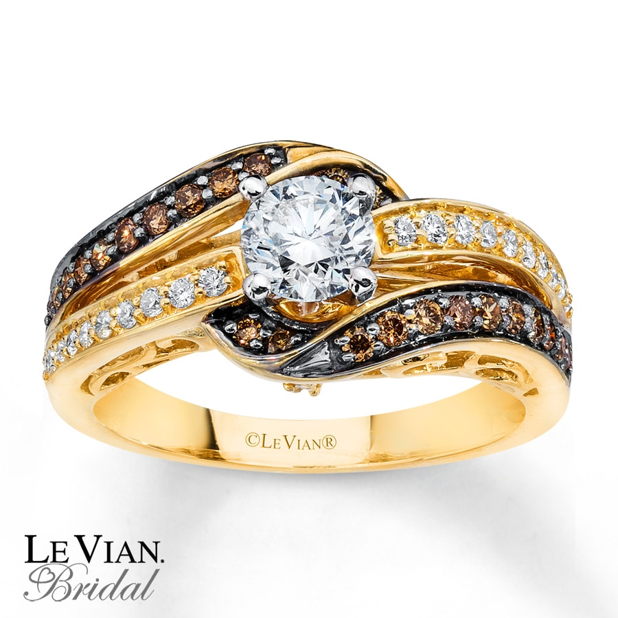 Kay LeVian Chocolate Diamonds 1 ct tw Engagement Ring 14K Gold