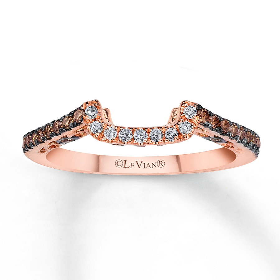 hover to zoom - Chocolate Diamond Wedding Ring