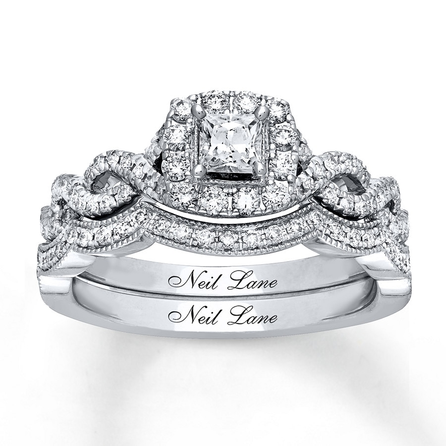 81d1fe33f Neil Lane Bridal Set 7/8 ct tw Diamonds 14K White Gold - 940310400 ...