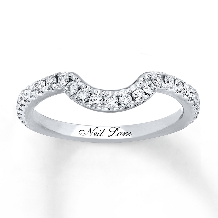Neil lane wedding band 13 ct tw diamonds 14k white gold 940310927 click to expand junglespirit Choice Image
