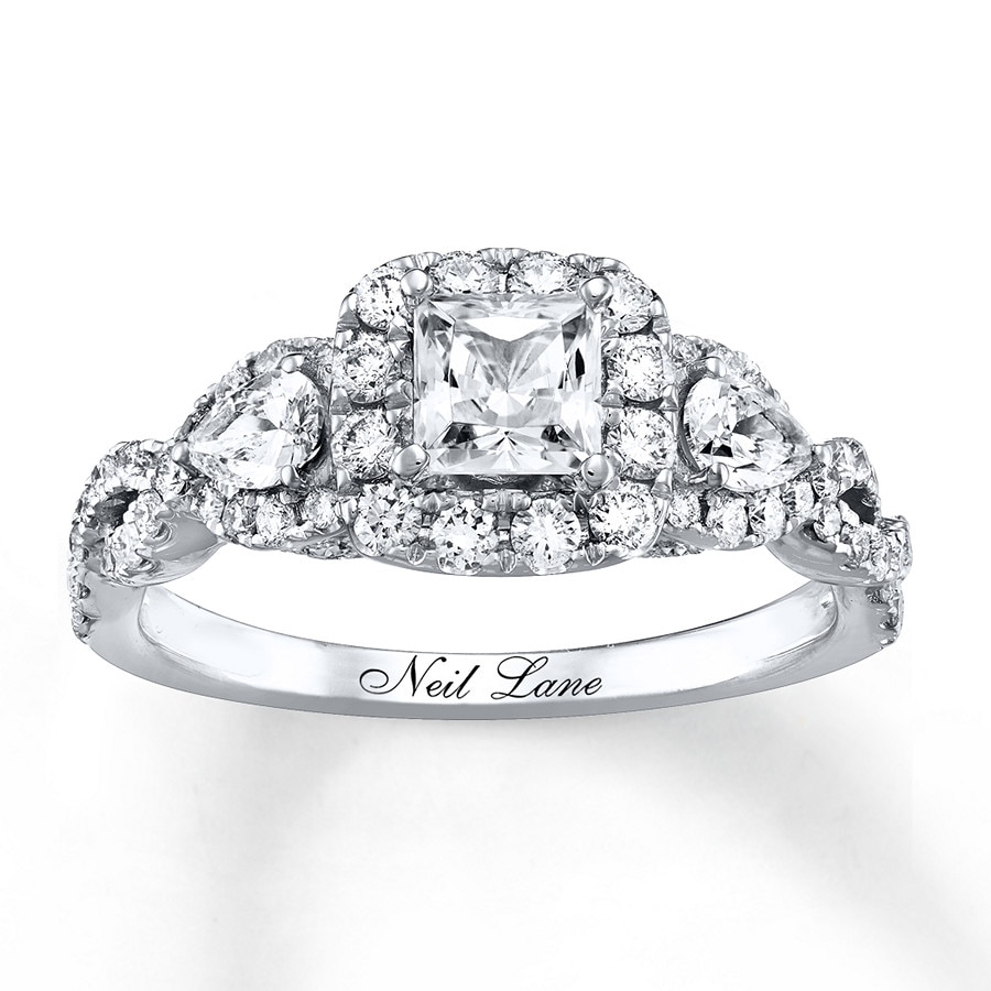 neil lane engagement ring 112 ct tw diamonds 14k white
