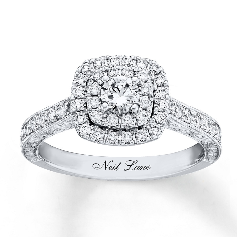 6ccceea73 Neil Lane Engagement Ring 7/8 ct tw Diamonds 14K White Gold. Tap to expand