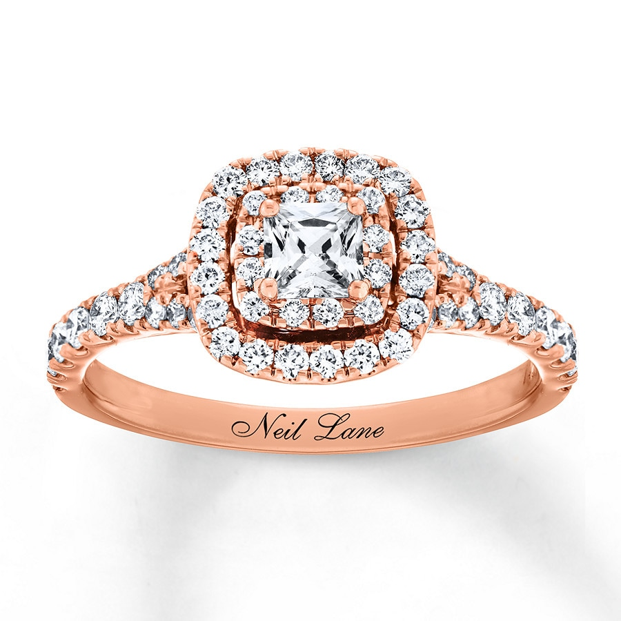 Rose Gold Wedding Ring.Neil Lane Engagement Ring 1 Ct Tw 14k Rose Gold