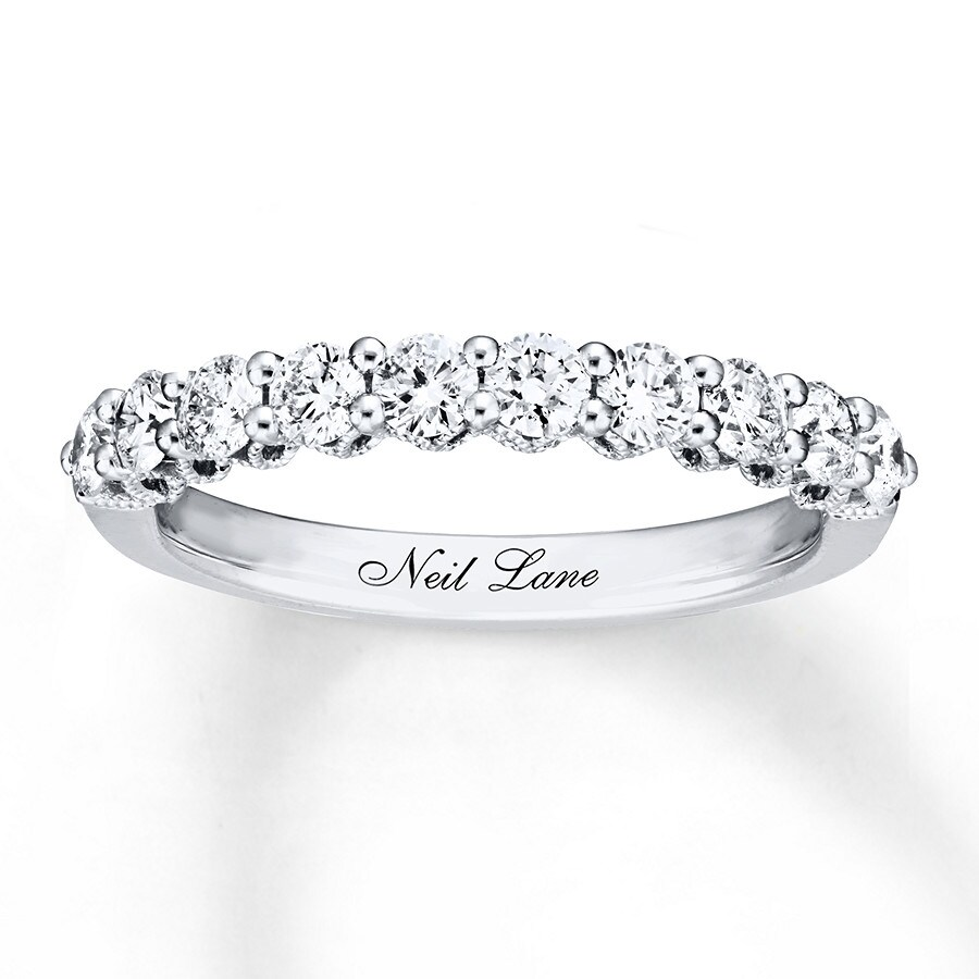 Neil lane wedding band 34 ct tw diamonds 14k white gold 940341124 hover to zoom junglespirit Choice Image