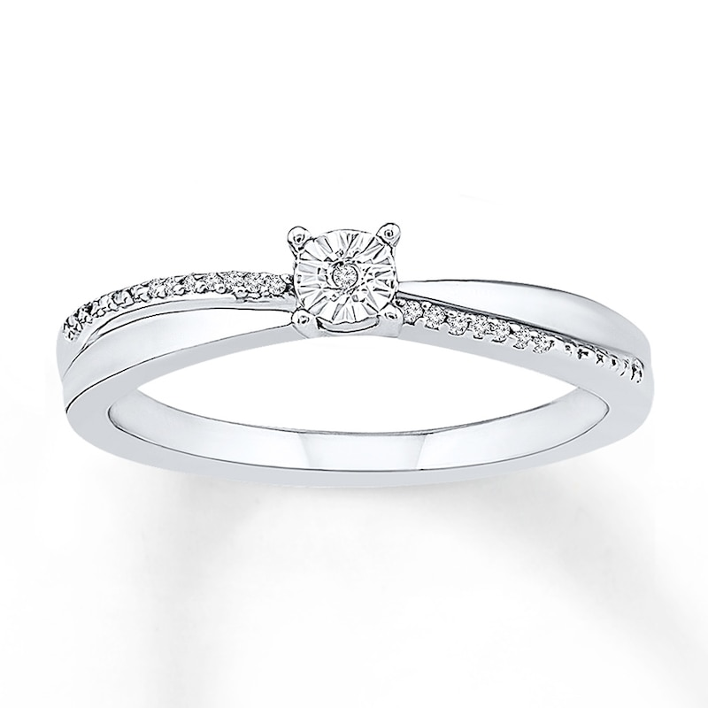 Promise Ring Diamond Accents Sterling