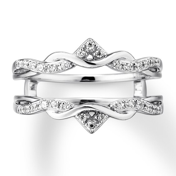 Diamond Enhancer Ring 1/5 ct tw Round-cut 14K White Gold