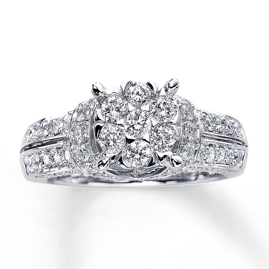 412bf14d23556 Diamond Engagement Ring 1-3/8 ct tw Round-cut 14K White Gold
