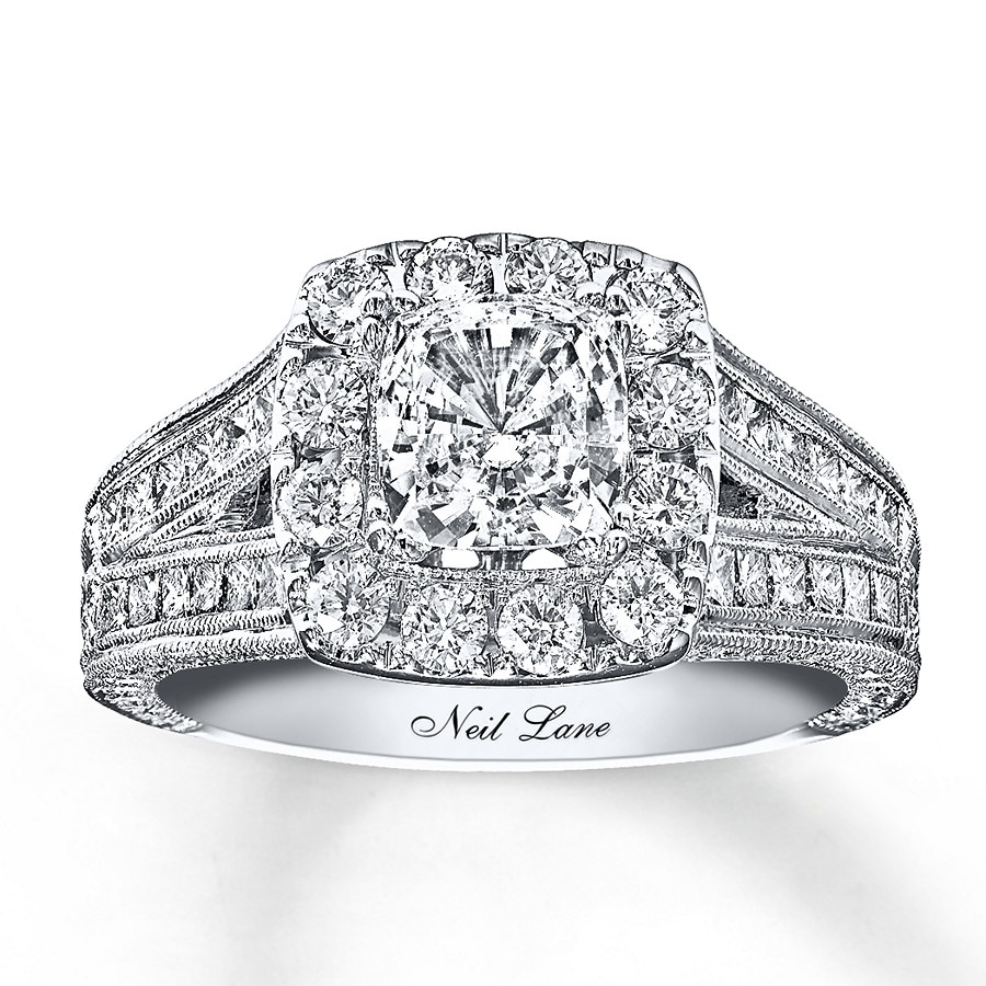 kayoutlet - neil lane engagement ring 2 ct tw diamonds 14k white gold