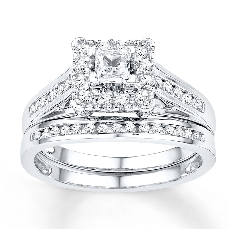 12ff94639 Diamond Bridal Set 5/8 ct tw Round-cut 10K White Gold - 99136810999 ...